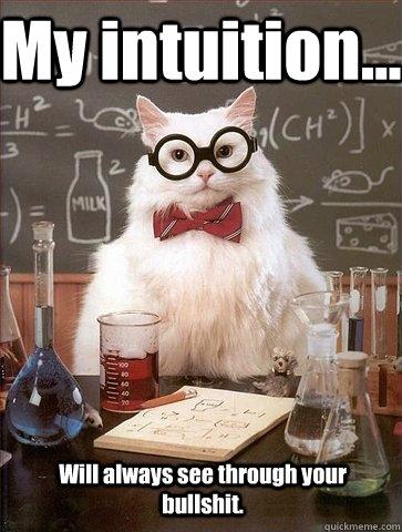 Risultati immagini per intuition funny