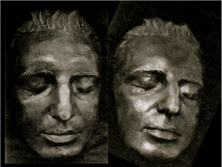 Mozart's death mask (actually a copy found in 1947)