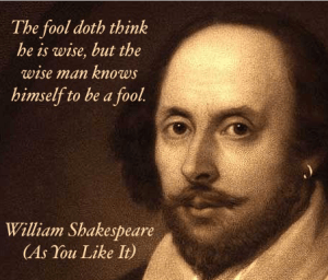 Wise fool Shakespeare quote