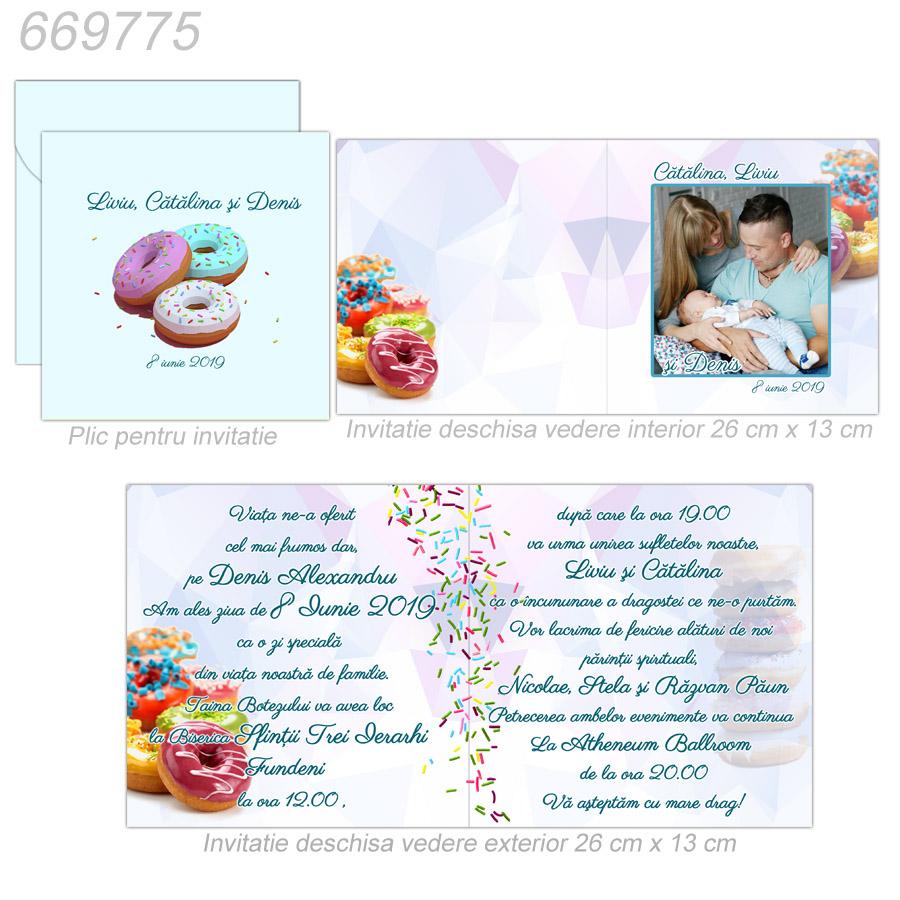 Invitatie Nunta Botez Tematica Gogoasa