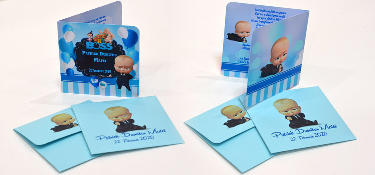Invitatii Personalizate Tematica Baby BOSS
