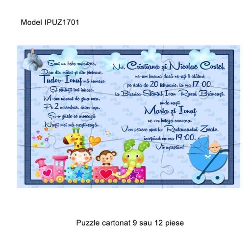 Invitatii Puzzle Botez