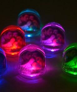 Glob Cu Led Si Inimioare Personalizat Cu Fotografii, Cadouri Personalizate