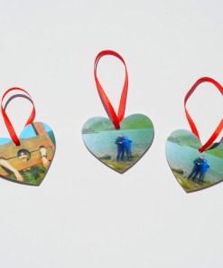 Decoratiuni Brad Craciun Forma Inima