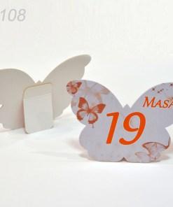 Numere Masa Nunta Forma Fluture