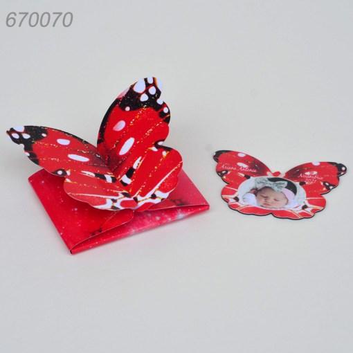 Invitatie Cutiuta Forma Fluture Cu Magnet
