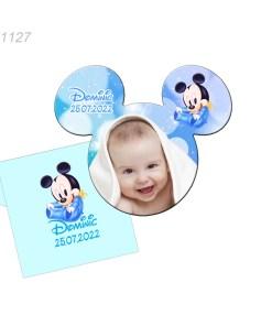 Marturie magnet Mickey Mouse cu plic inclus