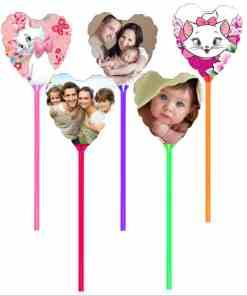 Set 5 MINI baloane forma inima, personalizate cu fotografii