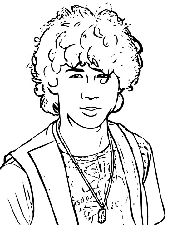 camp rock free printable coloring pages sheets jonas brothers