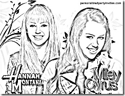 hannah montana coloring pages # 46
