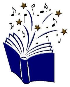open book with music