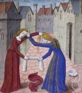 middle ages women fighting