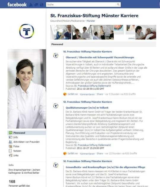Facebook Page St. Franziskus-Stiftung Münster Karriere