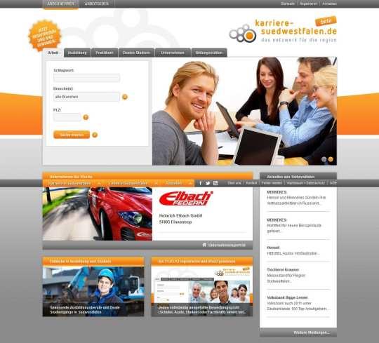 Webportal Karriere in Südwestfalen