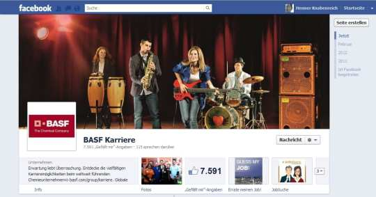 Voice of Germany, Abikapelle oder was? Nein, das Coverfoto von BASF Karriere