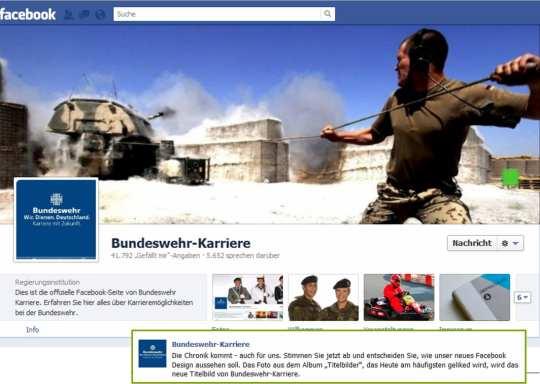 Die Bundeswehr überrascht mit der Chronik und ließ die Fans über das Titelbild abstimmen