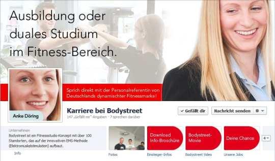 Nett gemacht: Kombination aus Titelbild und Profilbild - Bodystreet Karriere