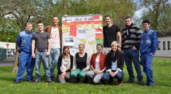 Das Team vom ThyssenKrupp Rasselstein Azubiblog