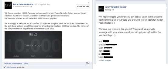 Gewinnspiele auf Facebook Pinnwand immer noch an der Tagesordnung