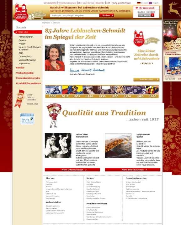 Infos für Bewerber sind auf der Website von Lebkuchen Schmidt Fehlanzeige