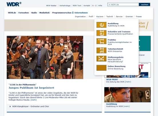 Karriere beim WDR -alle Infos auf einen Blick