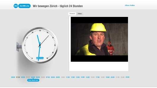 Employer Branding made in Zürich 24 Stunden Microsite der VBZ