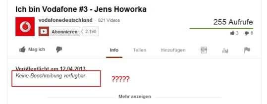 """Employer Branding Kampagne """"Ich bin Vodafone"""" - Potenziale bei Youtube verschenkt"""
