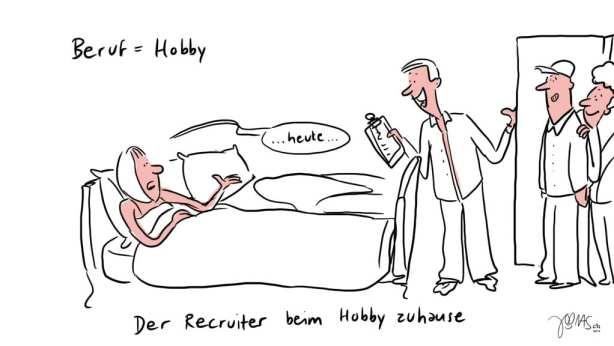 Der Recruiter beim Hobby zuhause 3