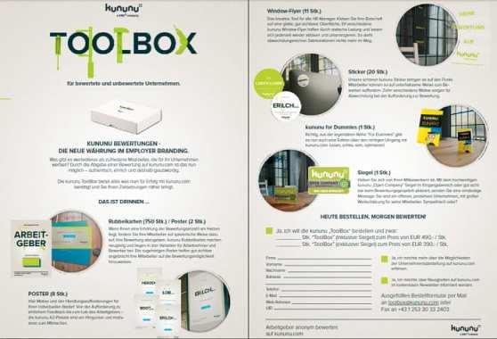 Die kununu-Toolbox für Arbeitgeber