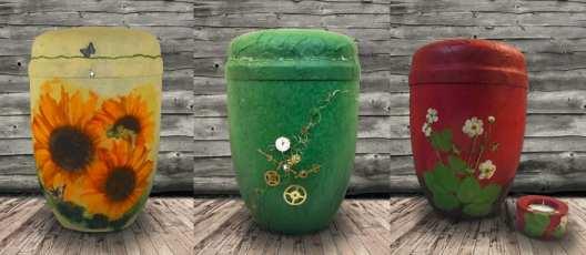 Individuell gestaltete Urnen - Quelle Gestaltete Urnen und Särge Irina Hradsky