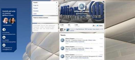 Allianz Careers - Teamvorstellung ja, Dialog nein