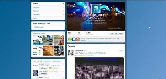 Philips Jobs - unpersönlicher Auftritt, dennoch Dialog