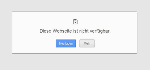 Ohne Weiterleitung kann schnell das passieren - diese Webseite ist nicht verfügbar