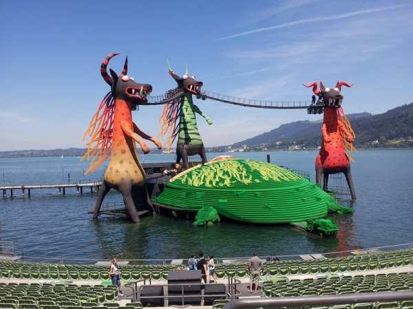 Festspiele Bregenz - Zauberflöte kurz vor der Generalprobe