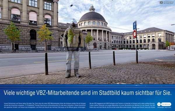 Personalmarketing-Kampagne der VBZ-Unsichtbare Talente