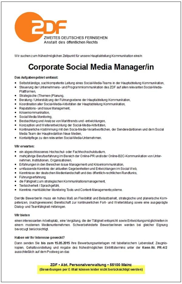 Beste Bester Social Media Manager Lebenslauf Ideen - Beispiel ...