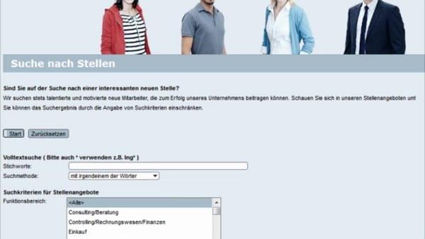 Die alte SAP-Stellensuchmaske von SEW-EURODRIVE ist zum Glück Vergangenheit