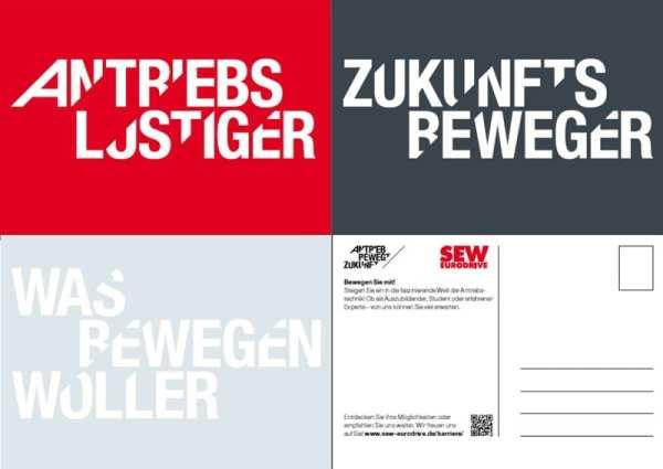 Personalmarketing mit Postkarten bei SEW-EURODRIVE