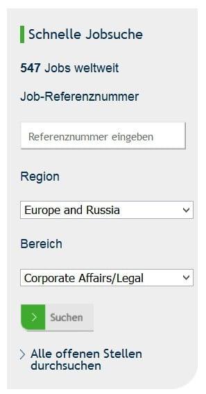 Schnelle Jobsuche, die keine ist auf der MARS Karriere-Website