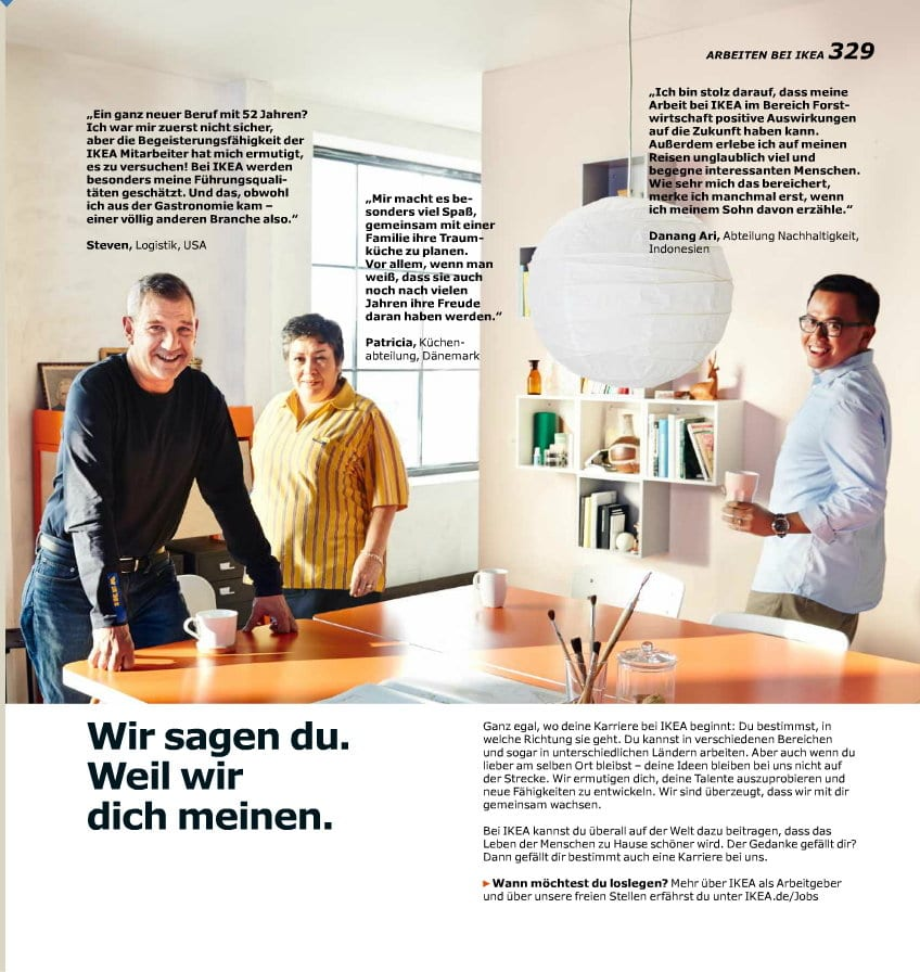 ikea verbindet gang auf die toilette mit personalmarketing. Black Bedroom Furniture Sets. Home Design Ideas