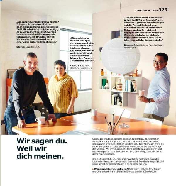 Ikea als Arbeitgeber - Katalogseite 2016