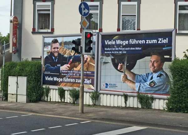 Personalmarketing-Kampagne für Quereinsteiger bei der Polizei Mettmann