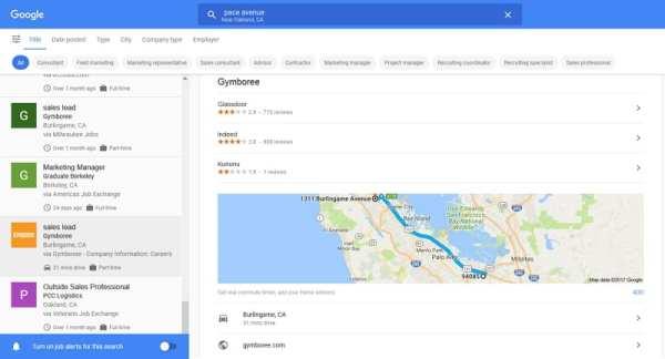 Google for Jobs zeigt Arbeitsweg und Dauer der Strecke