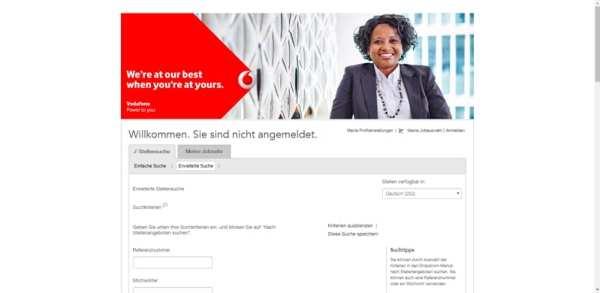Willkommen. Sie sind nicht angemeldet. So werden Bewerber bei Vodafone verprellt.