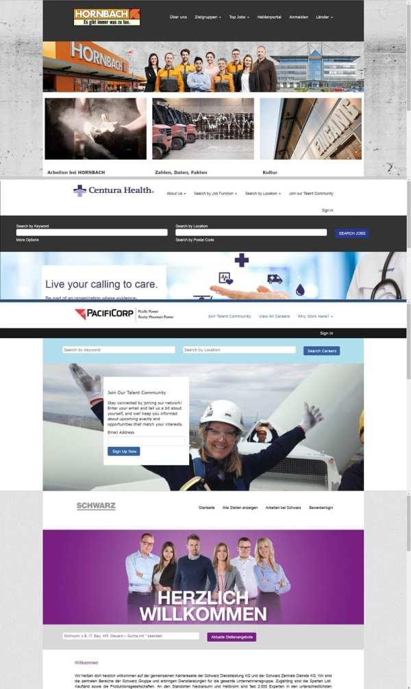 Austausche Karriere-Portale an Beispielen von E-Recruiting-Software-Anbieter Successfactors