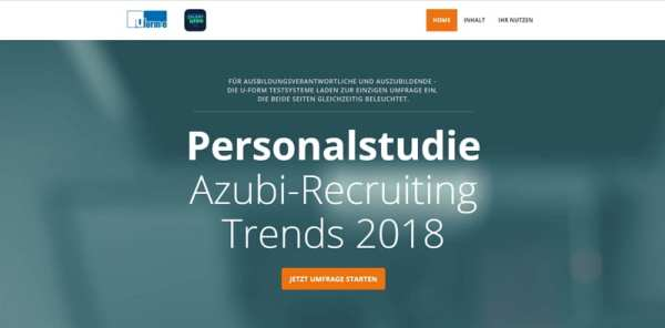 Azubi-Recruiting Trends 2018 - Jetzt mitmachen!
