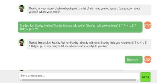 Stanley der Recruiting-Chatbot hat noch Verständigungsschwierigkeiten