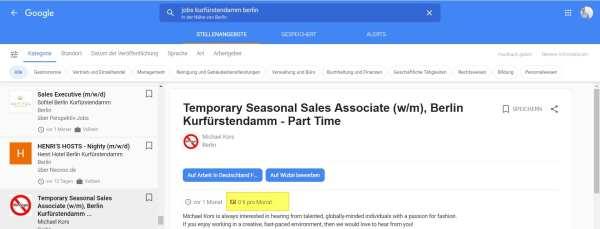 Google for Jobs - Gehaltstransparenz zahlt sich aus