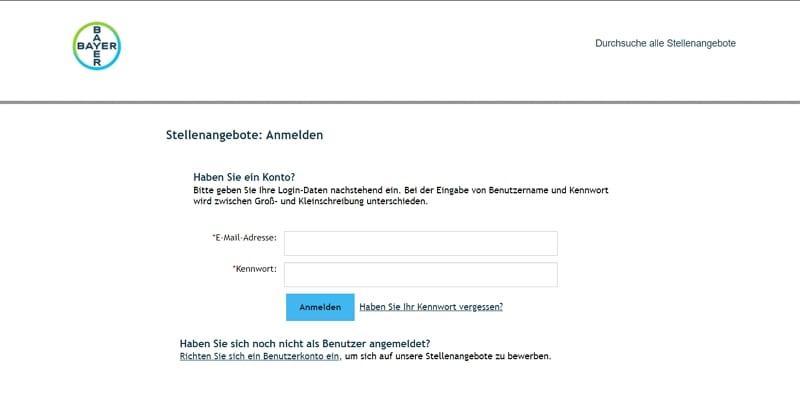 Standard bei den DAX 30 - Bewerben nur mit Zwangs-Login