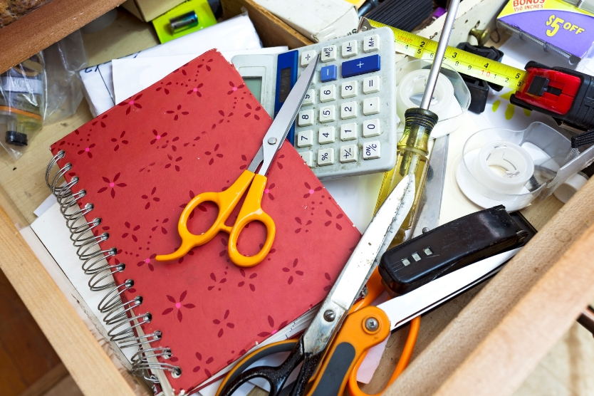 Is your junk drawer a mess that needs to be organized, or a safe haven where you can find items that your think are lost?